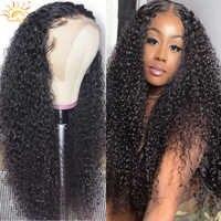 Pelucas de cabello humano con encaje Frontal rizado, peluca de cabello humano transparente HD con encaje Frontal de 30 pulgadas, luz solar malayo, Remy, 4x4, 13x6x1