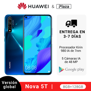 Глобальная версия Huawei Nova 5 T 5 T 8GB 128GB смартфон 48MP камеры Фронтальная камера 32MP 6,26 kirin 980 Android 9
