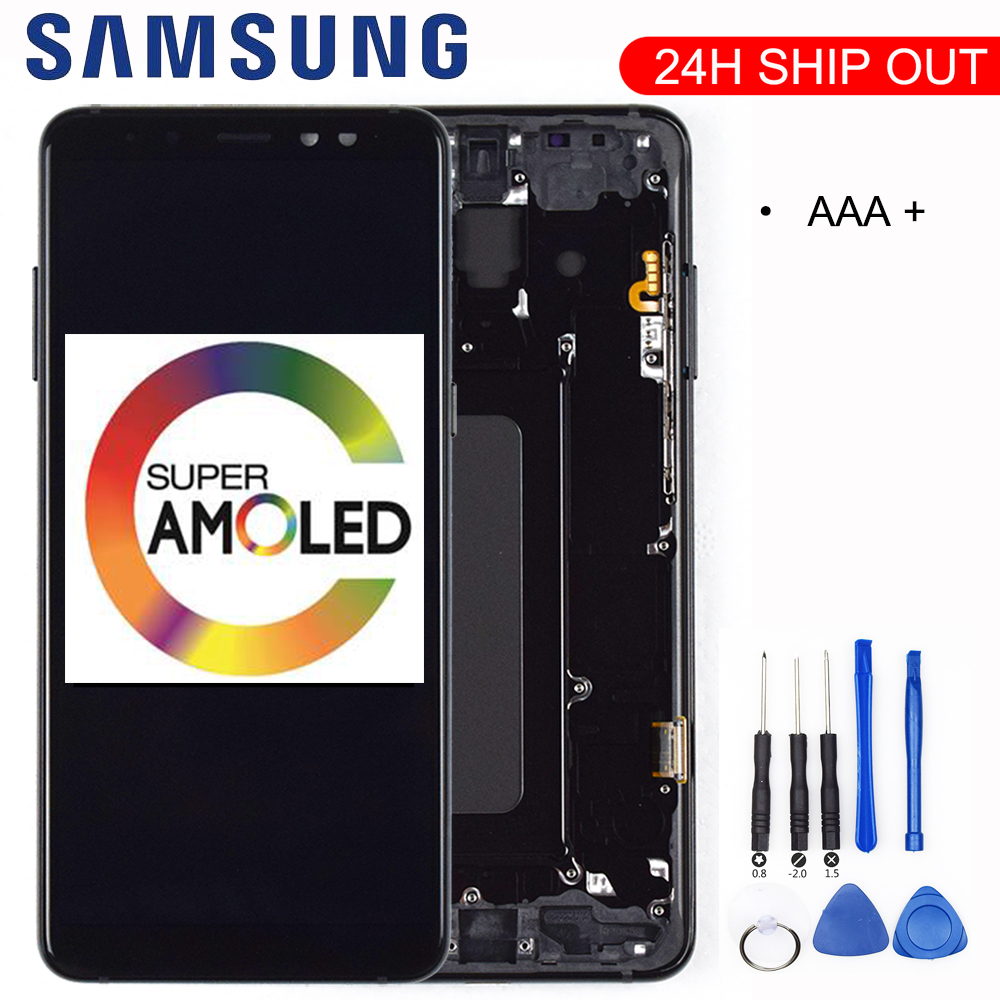 100% ORIGINAL AMOLED <font><b>Display</b></font> LCD For <font><b>SAMSUNG</b></font> Galaxy <font><b>A8</b></font> Plus 2018 A730 LCD <font><b>Display</b></font> Touch <font><b>Screen</b></font> Digitizer Replacement Can adjust image