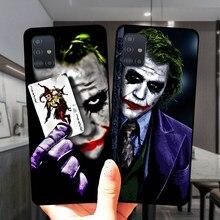Mroczny rycerz Joker Karta miękkiego silikonu skrzynki pokrywa dla Samsung A51 A71 A21S A01 A10 A11 A20 A30 A31 A40 A41 A50 A60 A70 A7 A8 Plus
