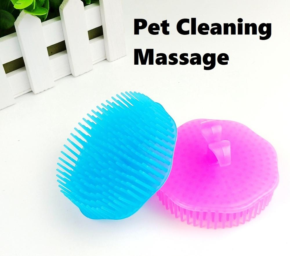 Round Pet Supplies Dog Cat Bath Brush Comb Cute Soft Fur Modified Massager Rose Red Hair Brush