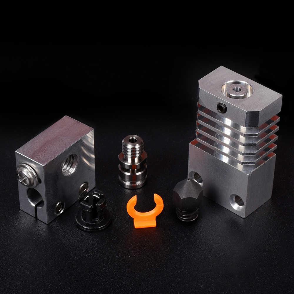 ترقية CR10S برو هوتند عدة مبادل حراري من الألومنيوم التيتانيوم السويسري MK8 فوهة كسر الحرارة لقطع غيار طابعة ثلاثية الأبعاد CR-10S هوتند