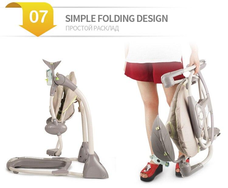 conforto berço dobrável shaker cadeira de balanço com conforto almofada