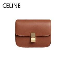 CELINE роскошная сумка через плечо из телячьей кожи с регулируемым кожаным ремешком и застежкой, сумки через плечо для женщин 189173AR2.04LU