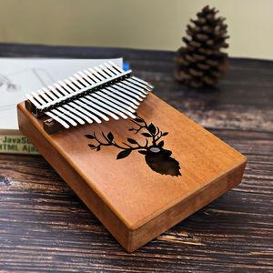 Image 5 - Scoutdoor 17 Keys Kalimba Thumb Piano Made By Single Board High Quality Wood Mahogany Body Musical Instrument