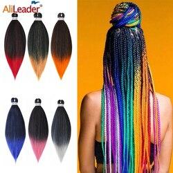 Alileader Ombre Ez tresses longue droite pré tendue tressage cheveux basse température fibre synthétique tressage Extensions de cheveux