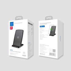 Image 5 - حامل شاحن لاسلكي طراز ROCK W3 Pro مع مروحة تبريد لهاتف iPhone 11 X Max XS XR سامسونج s10 S9 S8 Plus S7 Note 9 حامل 7.5 واط/10 واط