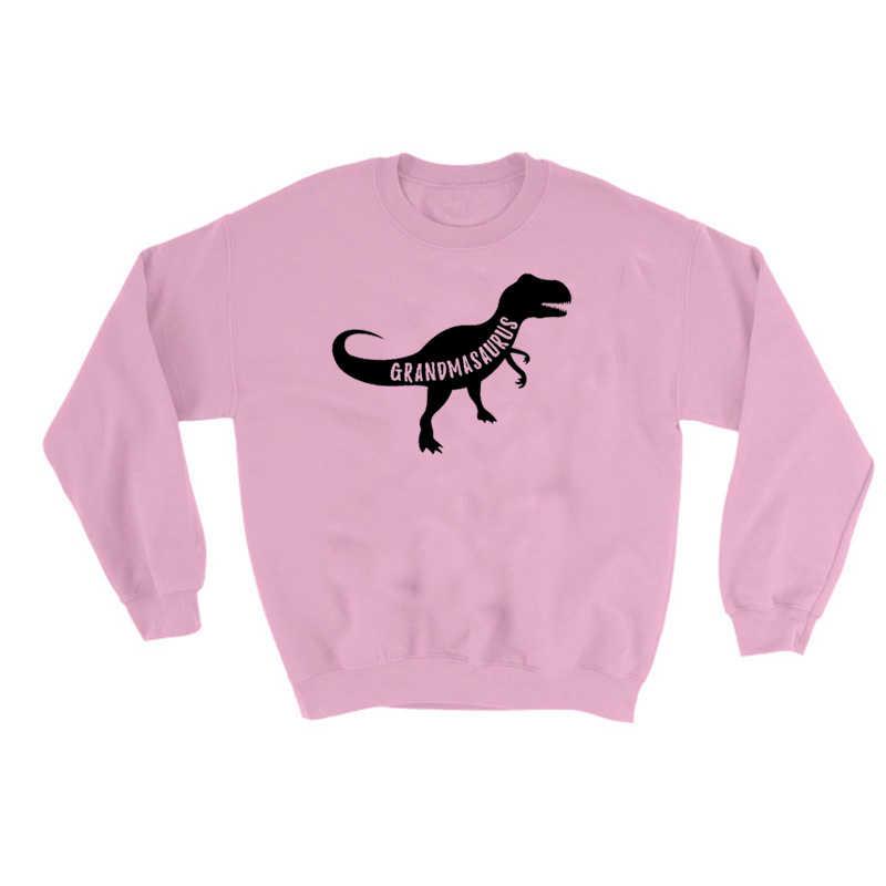 Grandmasaurus Толстовка динозавр Kawaii Графический свитер для женщин Забавный пуловер для девочек Повседневный Tumblr Джемперы осень дропшиппинг
