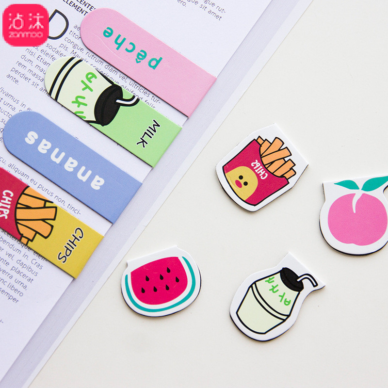 0751 Korean-style Creative Cartoon Magnet Bookmark Book Holder Adorable Cute Animal Magnetic Mini Bookmark Ribbon