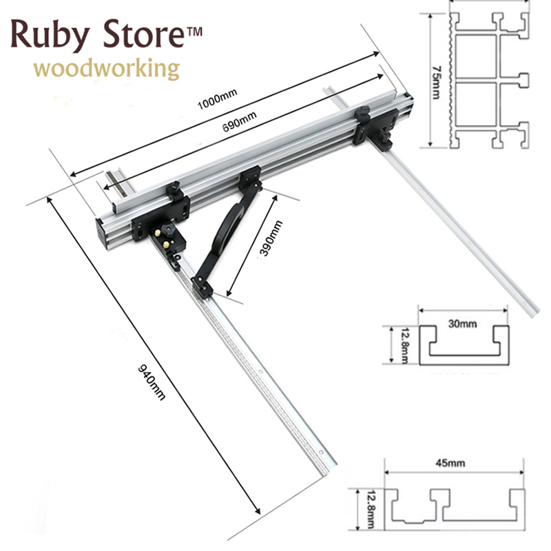 System DIY Table Fence Saw Woodworking Saw Table