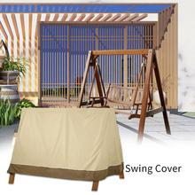 Open-Air Three-Seat Waterproof Canopy Garden Home Sunscreen Anti-UV Swing Cover Protective Cover Outdoor Garden Supplies