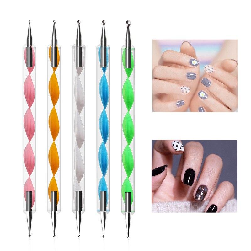 5 PCS Various Styles of Nail Art Rhinestone Gem Crystal Pen for DIY Nail Decoration Nail Pen Nail Drill Extraction Tool