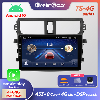 Prelingcar Android 10.0 NO 2 din DVD Car Radio Multimedia Video Player GPS Navigation For SUZUKI CELERIO 2015 16 17 18 Octa-Core image