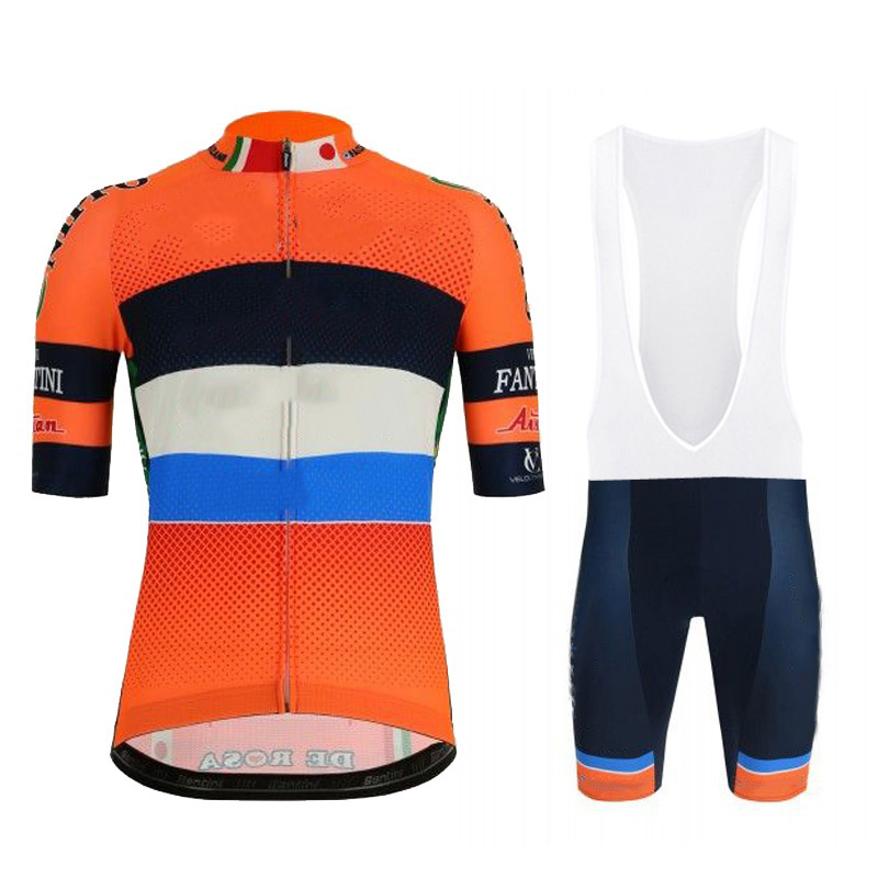 CyclingEasy 41461 2019 Vini Fantini Faizane Cycling Jersey Maillot Ciclismo Short Sleeve and Cycling bib Shorts Cycling Kits image