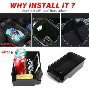 Image 3 - Car Armrest Storage Box Case Central Anti slip for Hyundai Sonata DN8 10th 2020