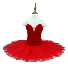 Предпрофессиональный балетный костюм Красная блинная пачка Детские