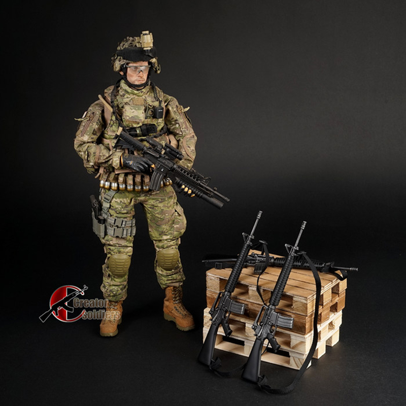 <font><b>1/6</b></font> 1:6 <font><b>Scale</b></font> 16cm Weapon Model M16 <font><b>Gun</b></font> Toys Models For 12'' Soldier Action Figures Collections Gifts image