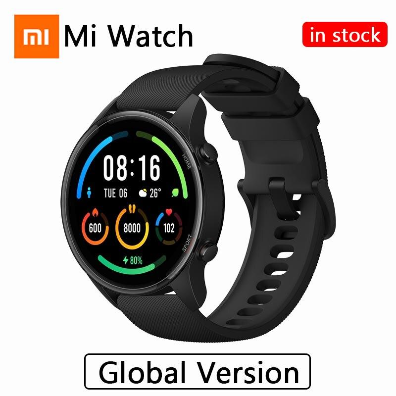 Xiaomi Mi Watch, глобальная версия, умные часы с кислородом, GPS, Bluetooth, фитнес, пульсометр, 5ATM, водонепроницаемые, Mi Smart Watch