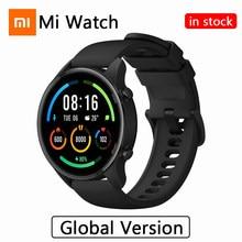 Xiaomi mi relógio versão global smartwatch oxigênio no sangue gps bluetooth fitness monitor de freqüência cardíaca 5atm à prova dwaterproof água mi relógio inteligente
