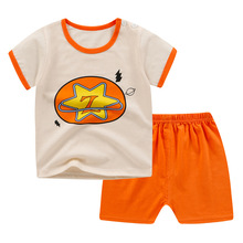 2Pcs/Set New Summer Baby Girls Boys Cotton Clothes Cartoon Sets Kids Infant Tracksuit Boys Printed T Shirt+Shorts Clothes 18M-7Y baby boy girls clothes set summer cartoon printed t shirt tops shorts 2pcs toddler kids costume cotton boys clothing suit 0 7y