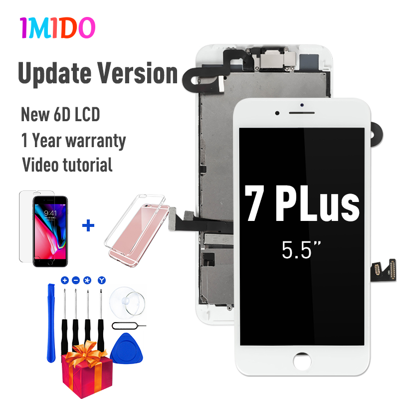 OEM LCD For IPhone 7 7 Plus Display Full Set Digitizer Assembly 3D Touch Screen Replacement +Front Camera+Earpiece Speaker+Gifts