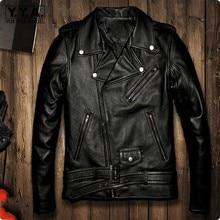 Зимние мужские Куртки из натуральной кожи, мотоциклетное пальто для мужчин, модный отложной воротник размера плюс 5XL Jaqueta De Couro Motoqueiro