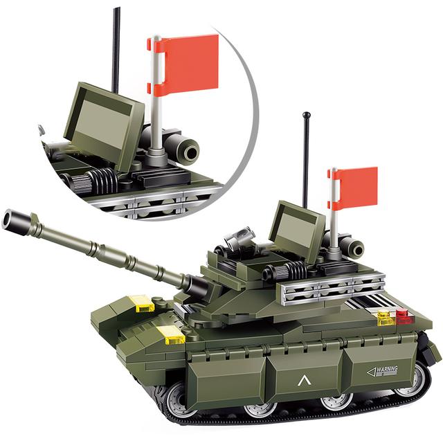 Military Type 99 Main Battle Tank Model Building Blocks  WW2 Tank Army City Police Soldier Bricks Educational Kids Toys