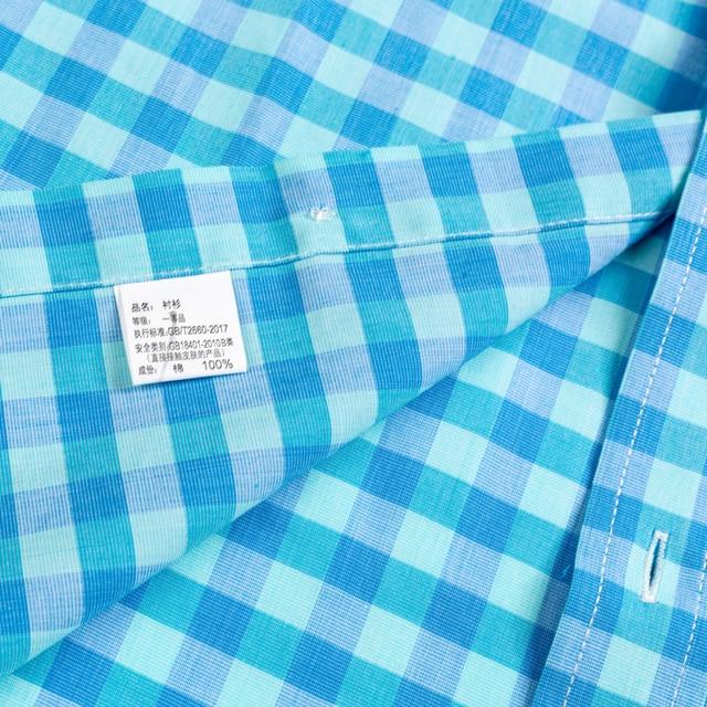 Plaid Checkered Short Sleeve Cotton Shirts 5