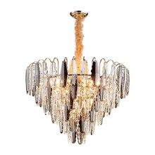 New Modern Crystal Chandelier Lighting AC110V 220v Lustre Lamps LED Bulb Chandeliers Foyer Home Lighting Indoor Light Fixtures luxury design modern crystal chandelier led lamp ac110v 220v lustre cristal foyer chandelier lighting