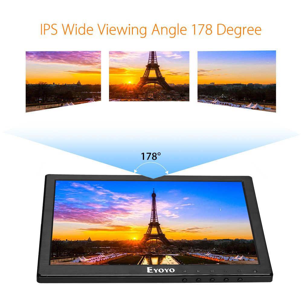 "Eyoyo 10.1 ""Ips Mini Lcd Monitor Screen Tv Computer Display 1280X800 Security Monitor Met Hdmi Vga Bnc av-ingang Voor Pc Cctv"