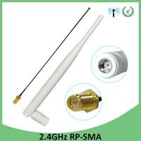 אנטנה sma 2.4GHz WiFi אנטנה 5dBi אוויר RP-SMA זכר מחבר 2.4 GHz Antena Wi-Fi נתב + 21cm PCI U.FL IPX ל- SMA זכר צמה בכבלים (1)