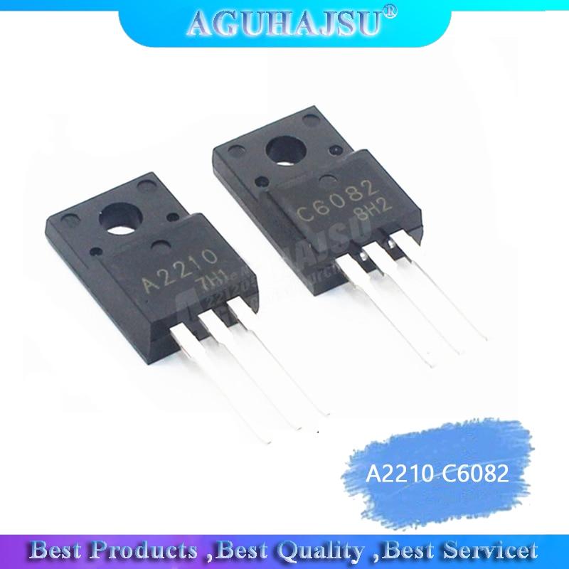 2pcs/lot A2210 C6082 TO-220F 1Pairs (1pcs 2SA2210 + 1pcs 2SC6082) TO-220 New Original