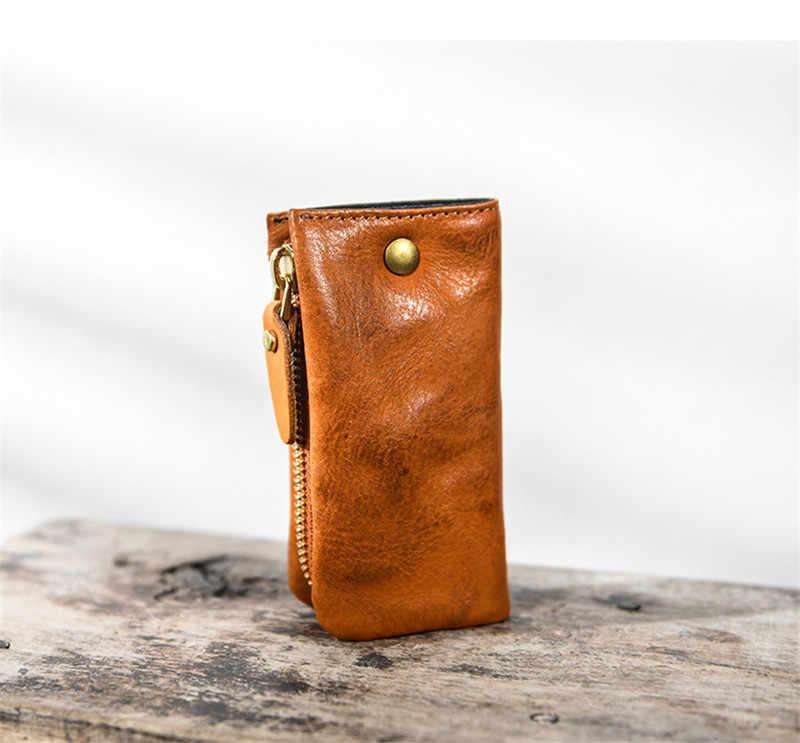 PNDME модный дизайнерский чехол для ключей из натуральной кожи для мужчин и женщин, высококачественный кожаный чехол для ключей, роскошные Молодежные бумажники ручной работы