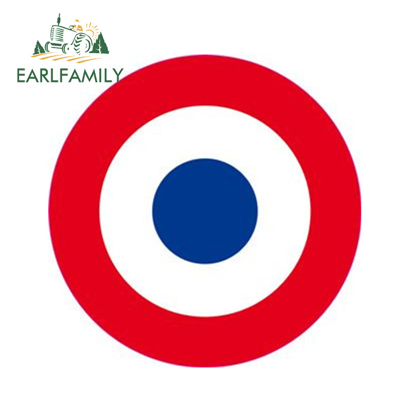 EARLFAMILY 13cm X 13cm Sticker France - Army Of L'air Cockade Three-colored Reflective Car Sticker Waterproof 3D Car Styling