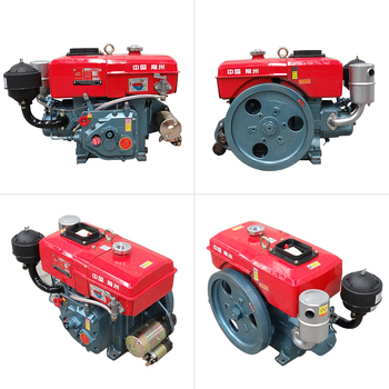 Water-cooled small diesel engine single cylinder 6/8 horsepower hand start/electric start tractor engine walking tractor 15hp rotary tiller tractor single cylinder diesel engine agricultural small tractor