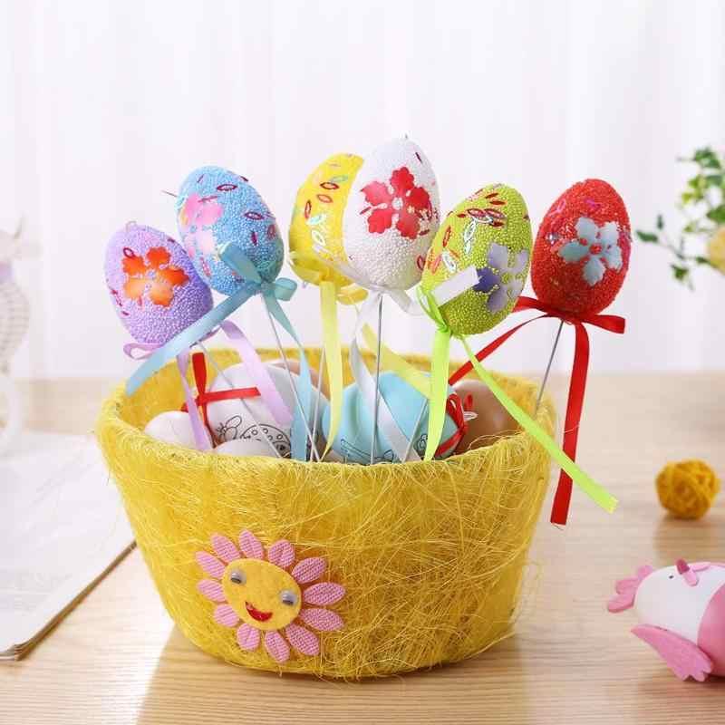 6 шт./пакет пасхальные яйца DIY красочные яйца детский сад ручной работы украшения