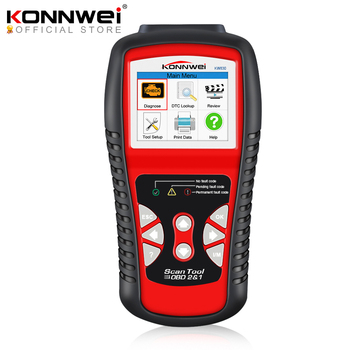 KONNWEI KW830 OBDII EOBD CAN Scanner tool Auto Code Reader odb2 Diagnostic Tool Work For Renault car better than MaxiScan MS509 for renault can clip v178 full chip cypress an2131qc reprog v151 obdii diagnostic interface can clip car diagnostic tool scanner