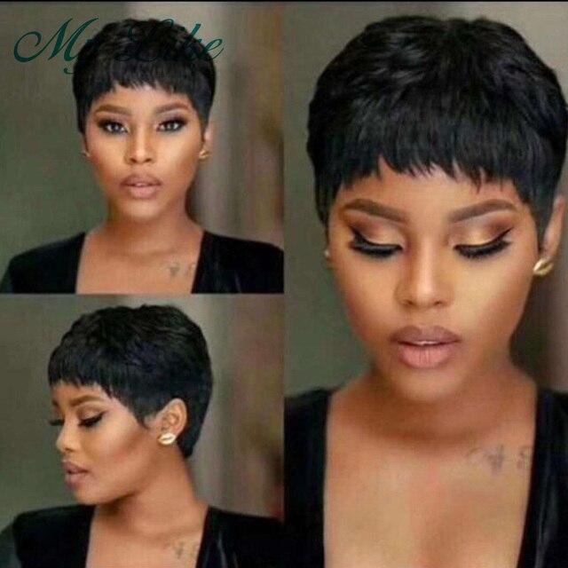 Mega Sale 04cb6 Pixie Cut Short Wigs Brazilian Straight Human Hair Wigs For Black Women Full Machine Made Wigs Cheap Short Human Hair Wigs Cicig Co