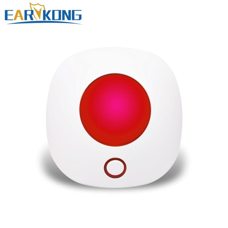 Беспроводная Стробоскопическая сирена Earykong 433 МГц, звуковая светильник сирена дБ для сигнализации PG103 / W2B / W123 / G4 / G50 / PG105 / PG106