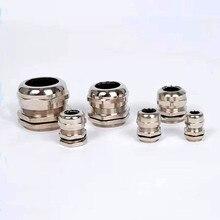 Connecteur de bagues de câbles, laiton nickel métal IP68 étanche pour 3-44mm, 1 pièce/lot, haute qualité