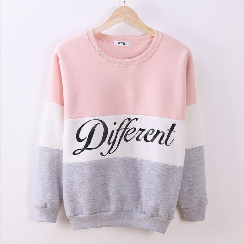 Autumn Sweatshirs Letter Printed Women Pullover Tops Sweat Shirt Blouse Sweatshirt Thick Tracksuits Sudaderas