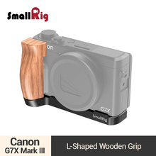 SmallRig L Plate Bracket With Wooden Grip for Canon G7X Mark III DSLR Camera Quick Release L Shape Tripod Bracket Plate -2445