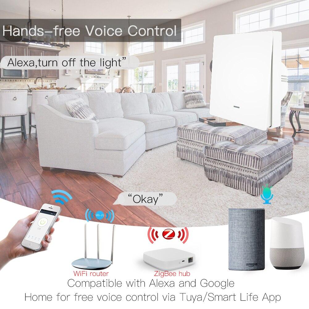 Image 2 - Tuya ZigBee 3,0 кнопочный выключатель света Tuya ZigBee концентратор требуется приложение Smart Life дистанционное управление работа с Alexa Google HomeВыключатели    АлиЭкспресс