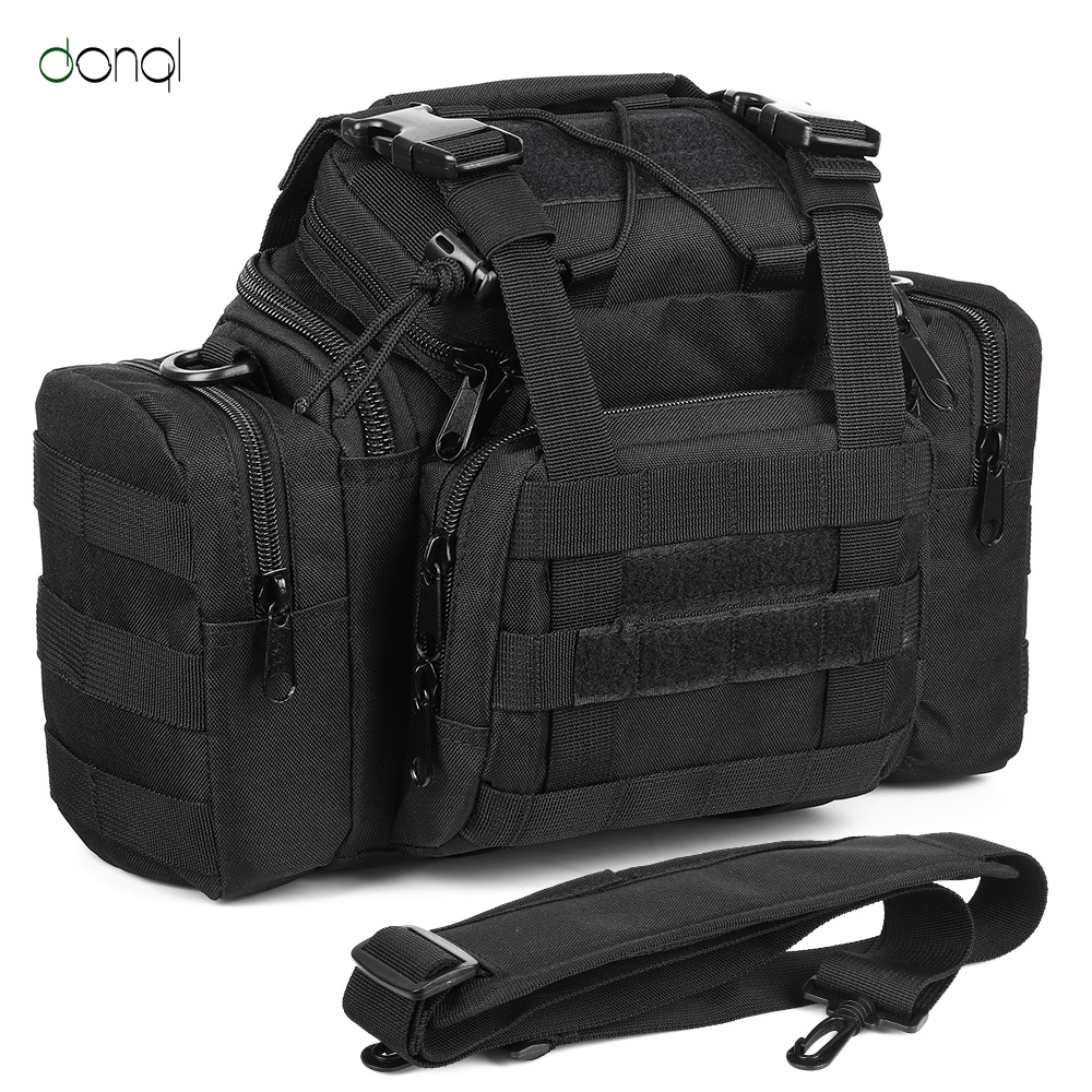 DONQL Outdoor Sports Bag Fishing Hiking Trekking Backpack Tactical Climbing Travel Shoulder Bags Camping Fishing Tackle Backpack