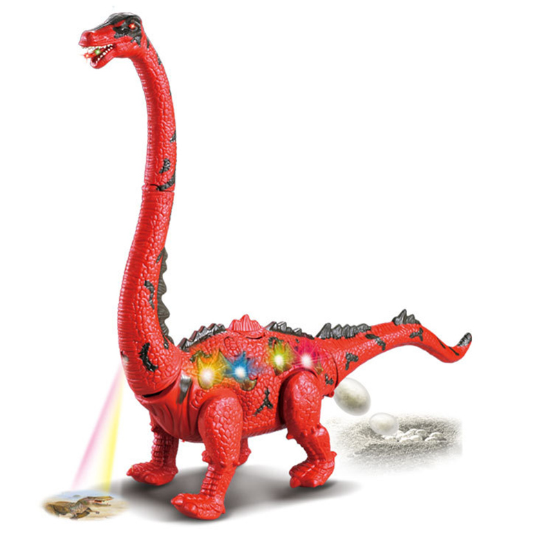 Hot Selling Electric Toy Dinosaur Walking Lay Egg Long-necked Projection Simulation Animal Model