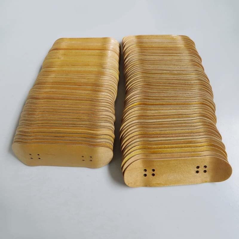Maple Wood Fingerboard Professional Finger Skateboard Deck Mini Basic Skate Board Toys Double Rocker Penny Board For Kids