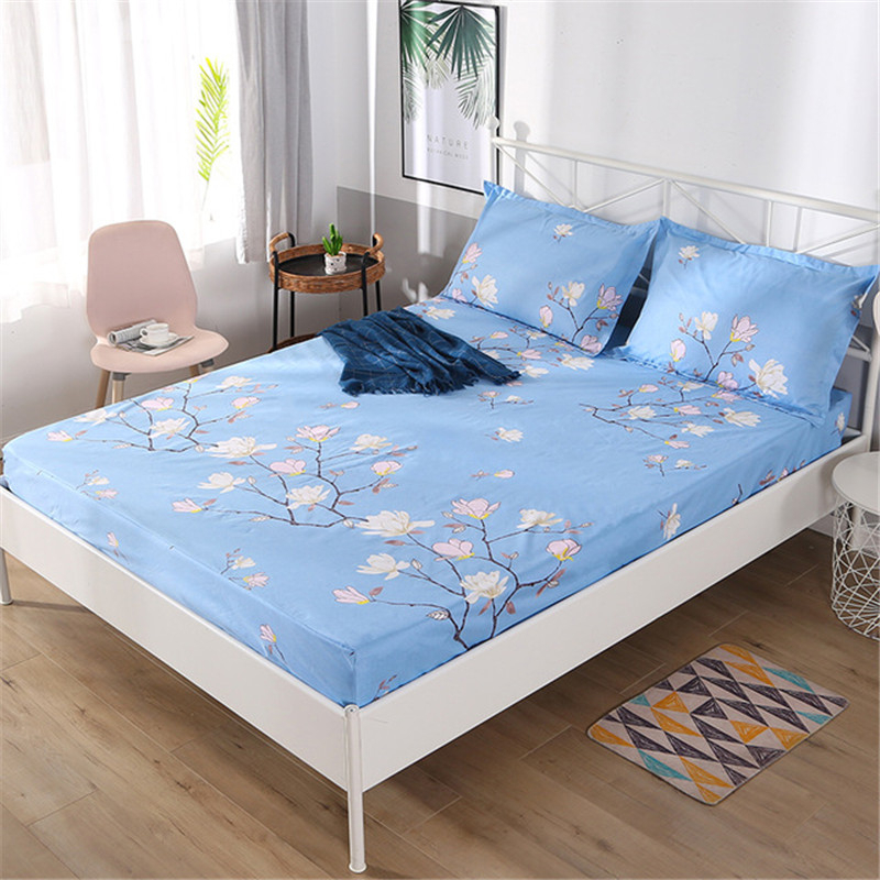Stretch Home Bed Mattress Cover Waterproof Anti-stain Fitted Bed Sheet Elastic Home Textile Bed Sheet Multi Sizes Bedclothes