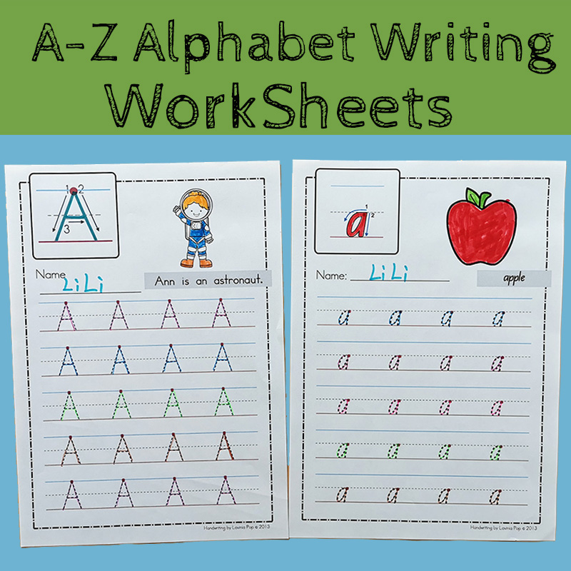 26 Letters A-Z Alphabet ABC Practice Paper Preschool Learning English Homework Writing Exercise Book Kindergarten Pre-school