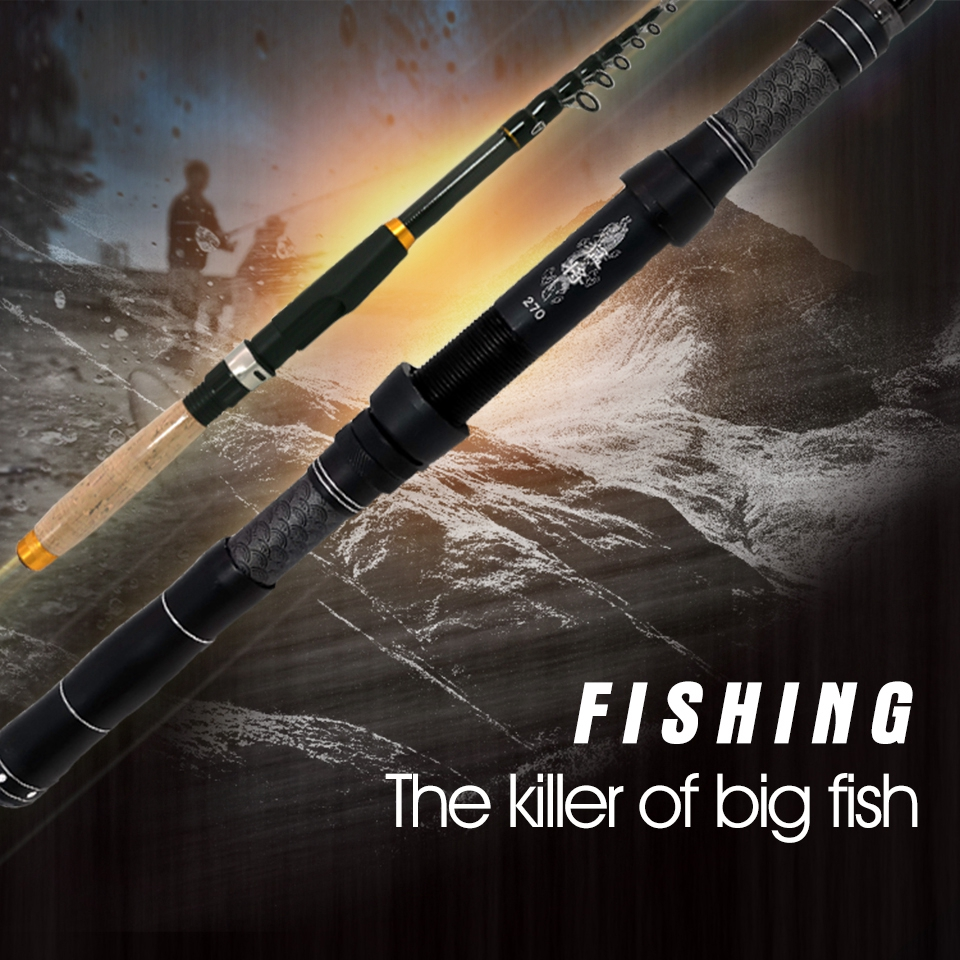 Fishing Pole 1.8m To 3.0m Spinning Rod Carbon Telescopic Travel Fishing Tackle