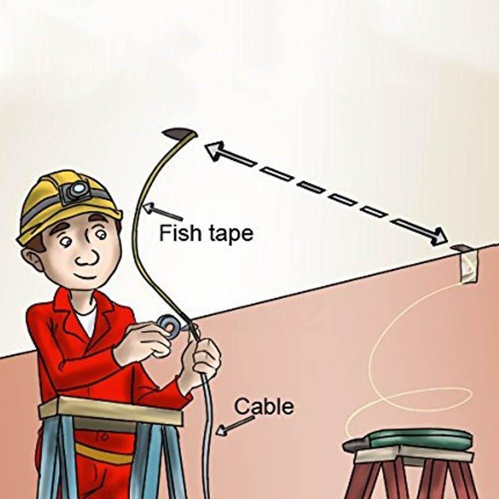 30Meter Fiberglass Fish Tape Reel Puller Conduit Ducting Rodder Pulling Wire Cable Fishing Tool PR Sale